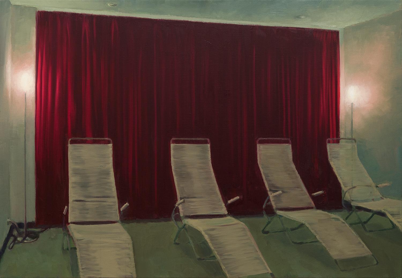 The War Room -John Brennan,2015, oil on canvas, 90 x 130 x 4 cm