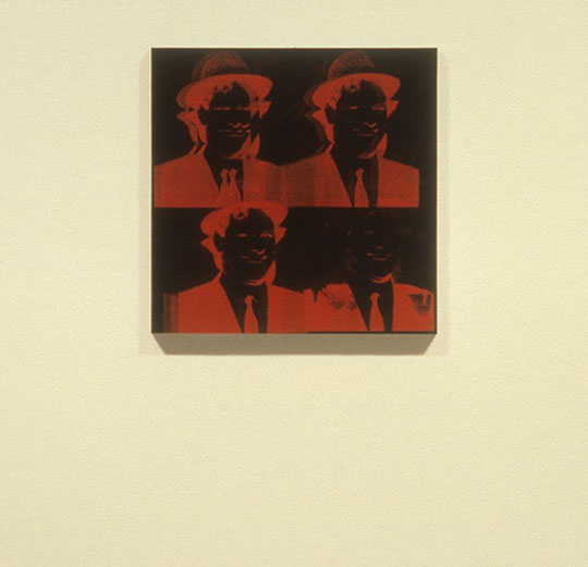 Four Negative Portraits Of The Artist By Andy Warhol