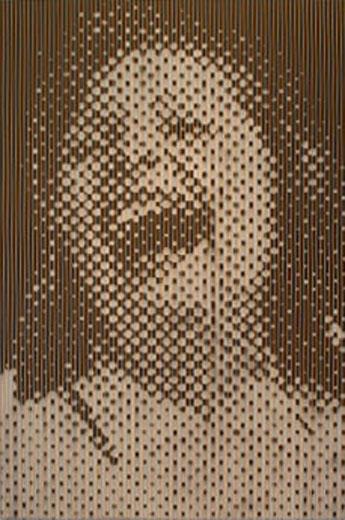 Large Orange Laughing Woman