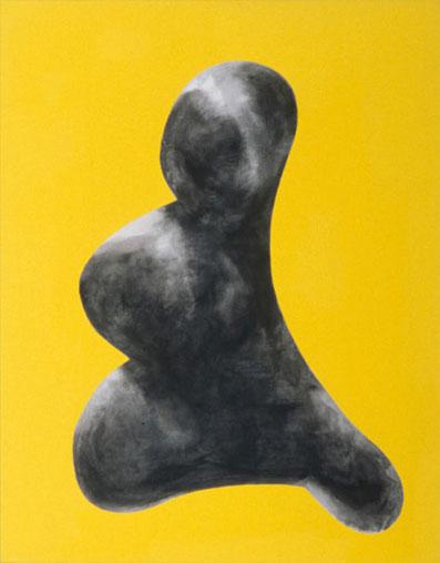 "Chris Cran | Tiara | Acrylic on canvas | 30"" x 18"" | 2000"
