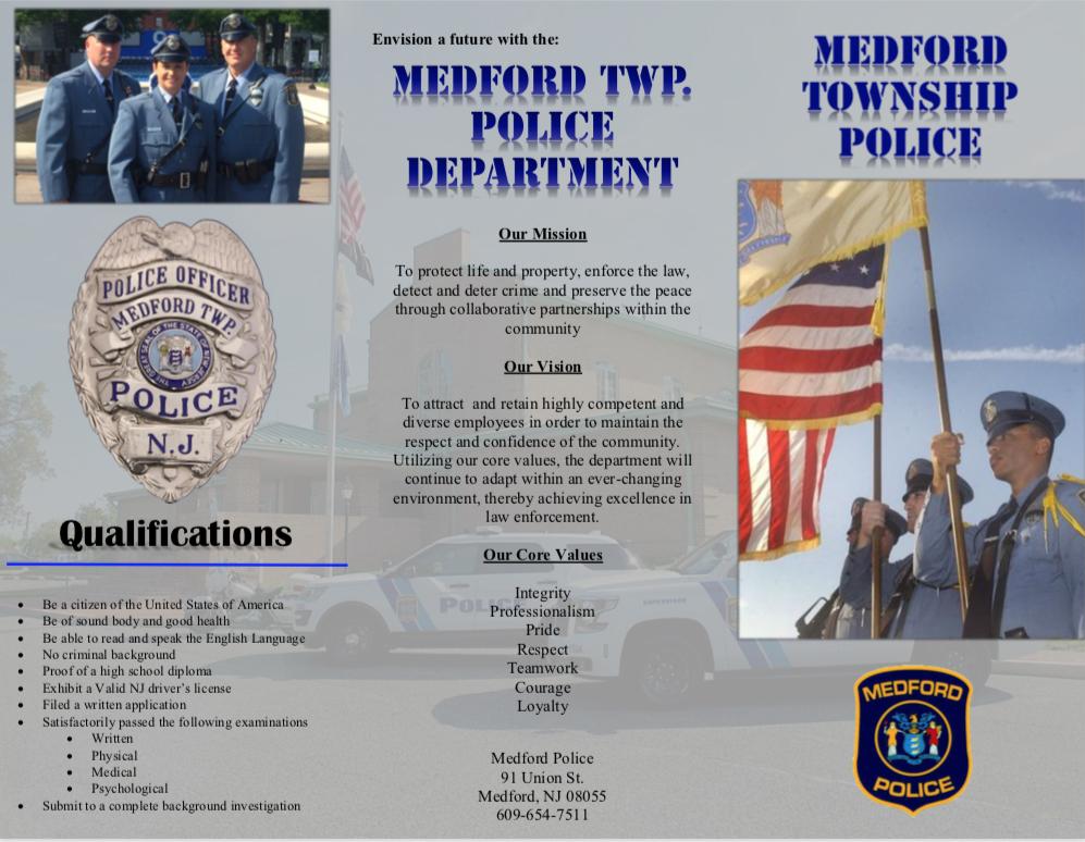 Recruitment — Medford Twp  Police Department