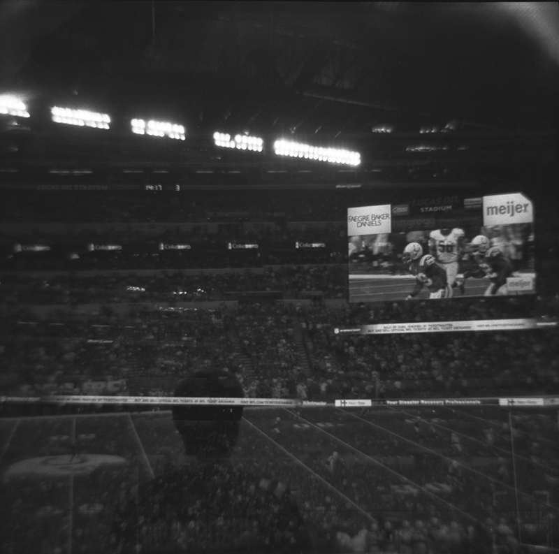 The first game of the season. September 7 against the Denver Broncos  Diana F+ - Ultrafine Xtreme 400. Double Exposure.