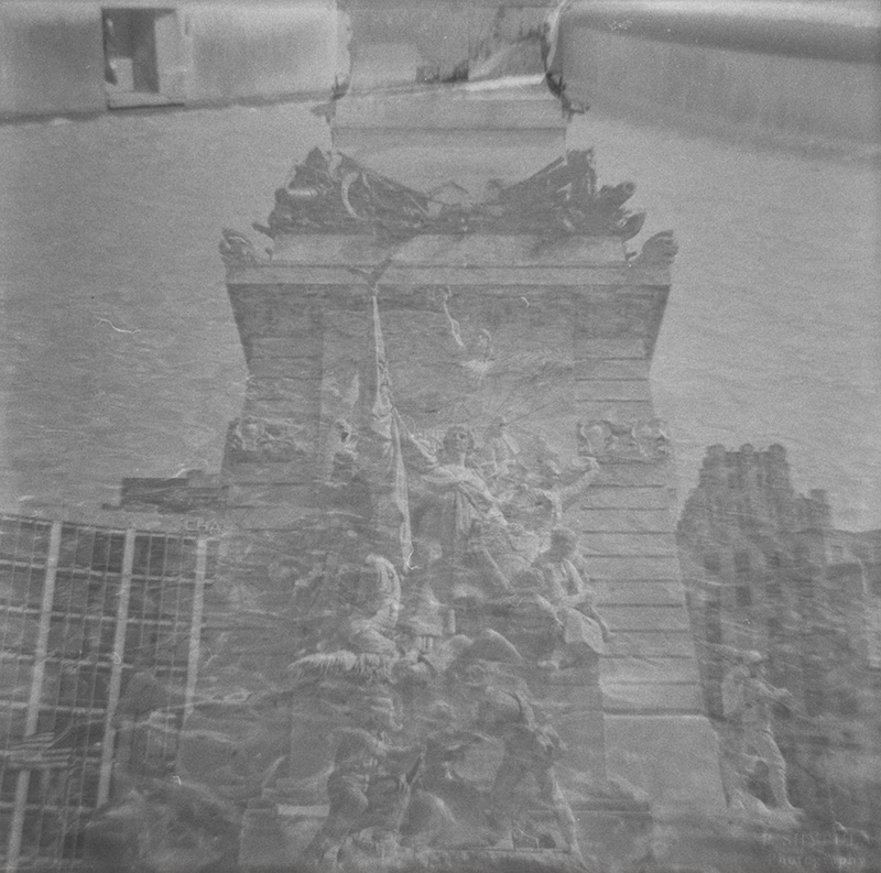 Soldiers' and Sailors' Monument - Double Exposure  Diana F+