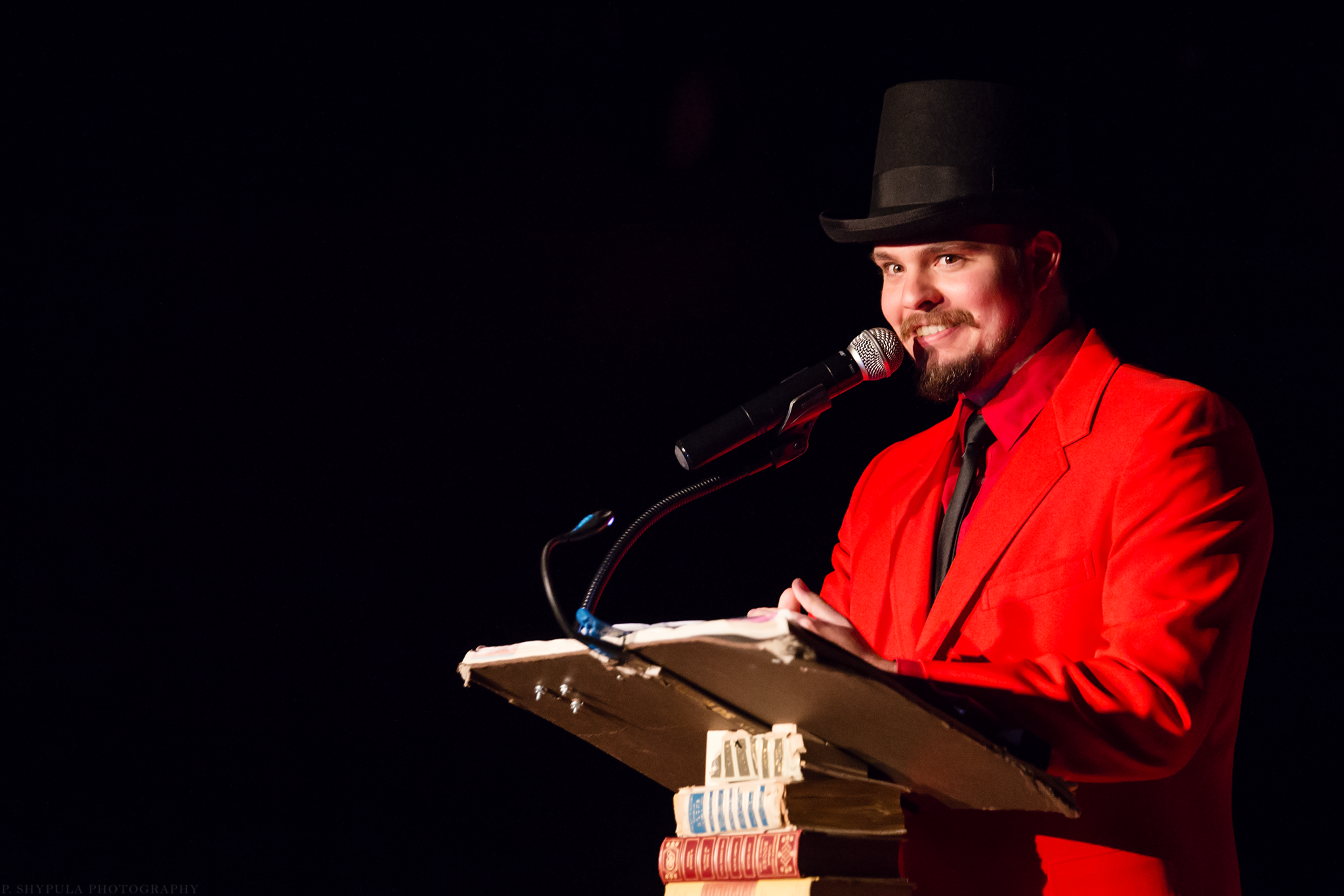 Sam Griswold as Satan for An Evening with the Authors