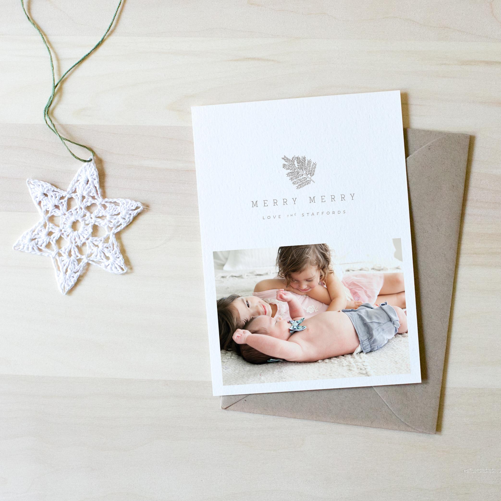 kate stafford photography | custom christmas card
