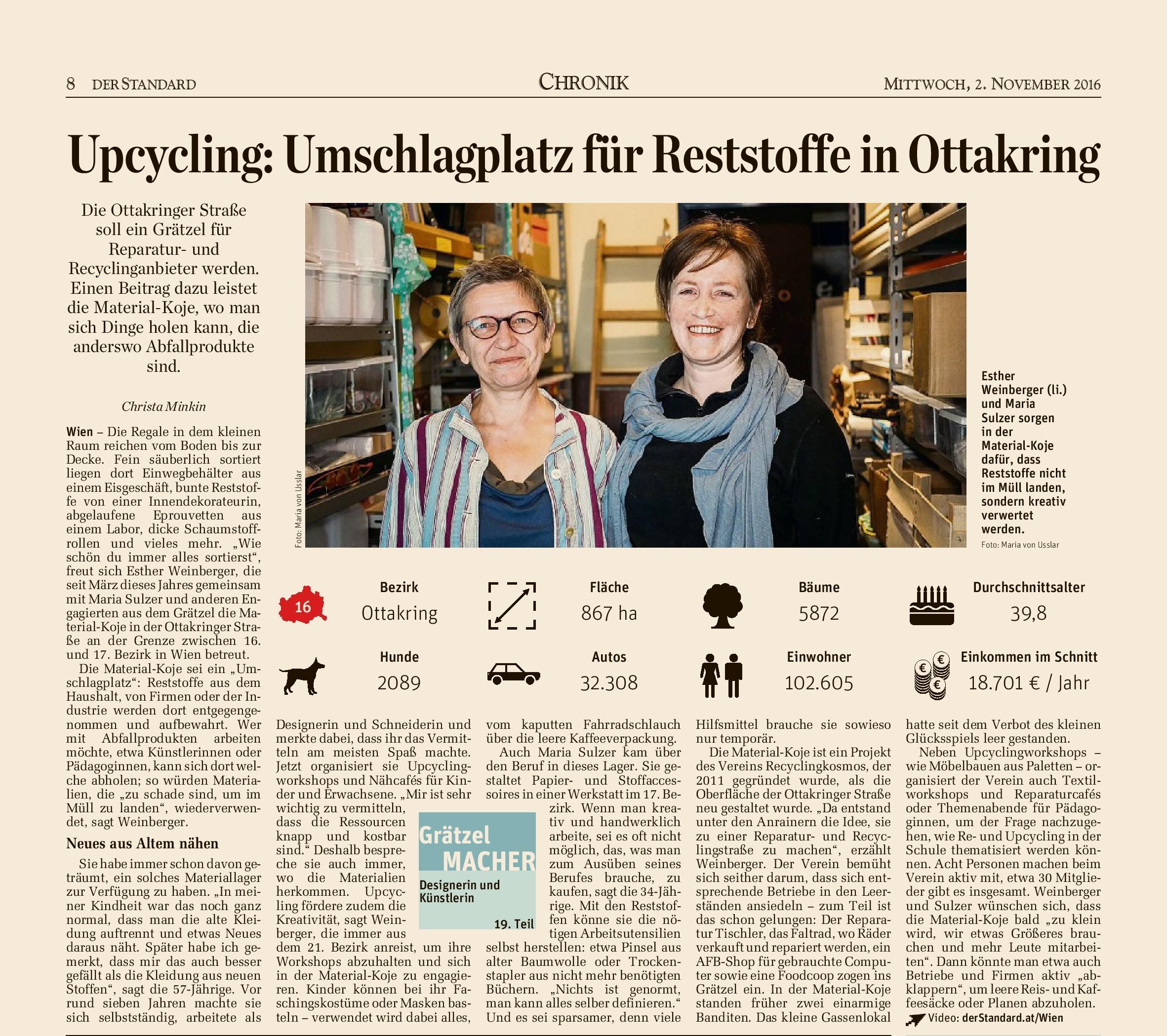 Der Standard, 2. Nov. 2016, Seite 8