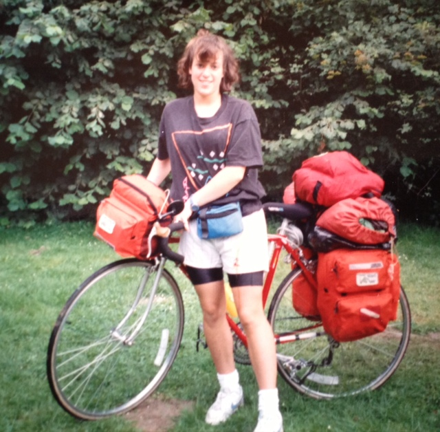 Me, in 1990. Somewhere in Europe.