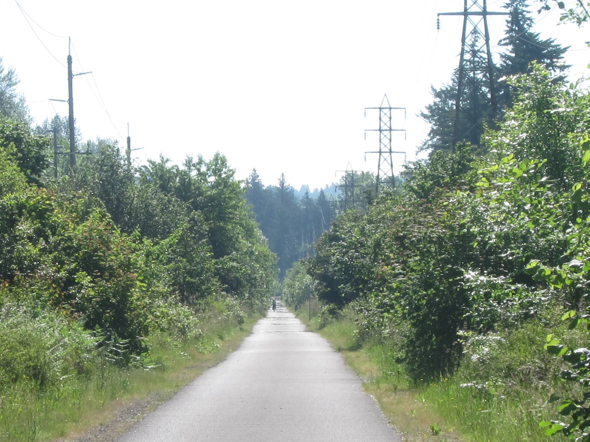 Springwater Corridor Trail, Portland to Boring Oregon.
