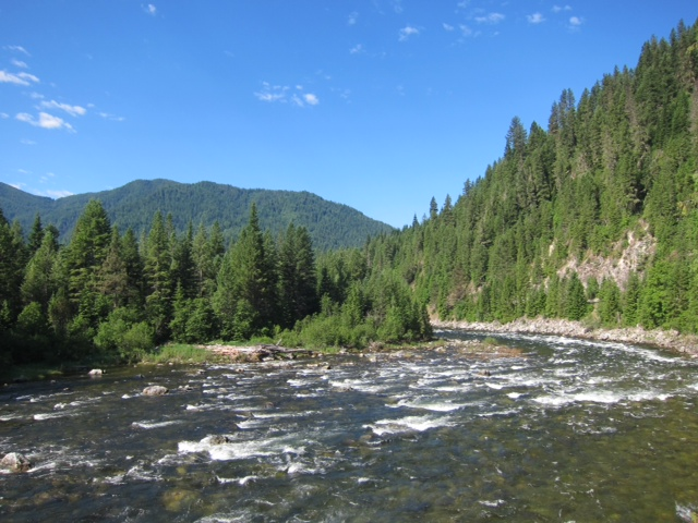 Lochsa River. Miles and miles of this.