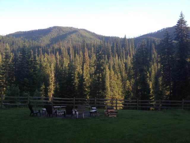 View from back of Lodge. See, I am ROUGHING it Mom and Dad! ;)