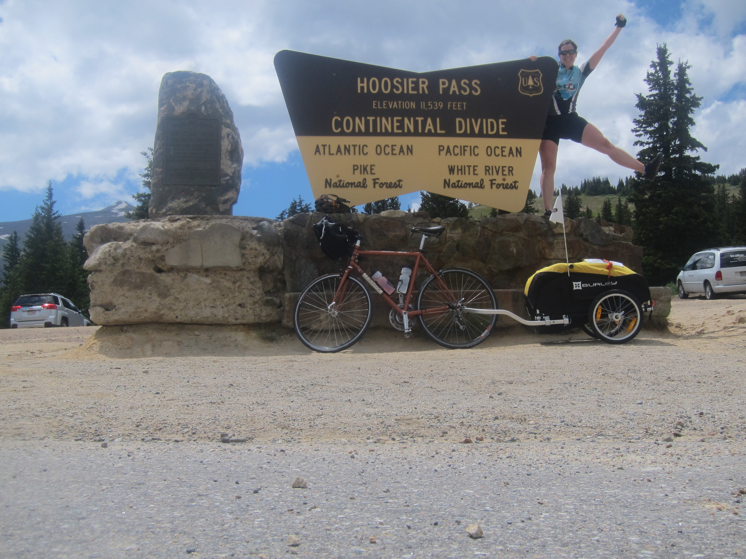 10th and FINAL Continental Divide crossing on my trip. And, highest point on the ACA Trans-American route.