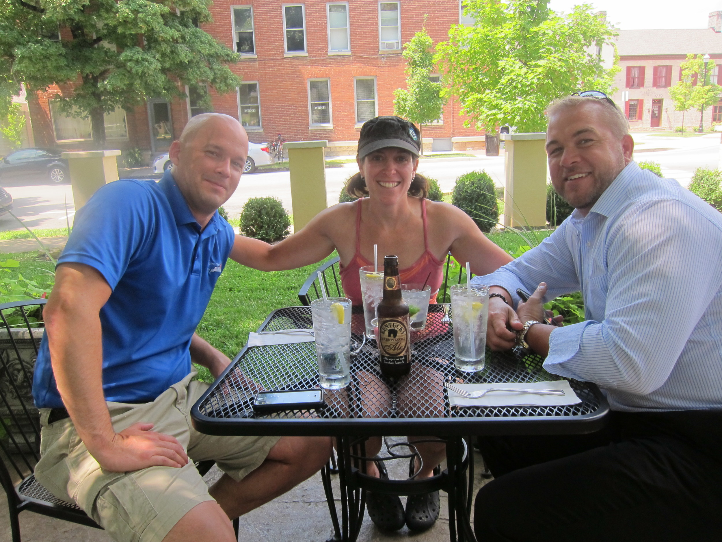 Lunch with Jamie and Todd in Circa in Bardstown.