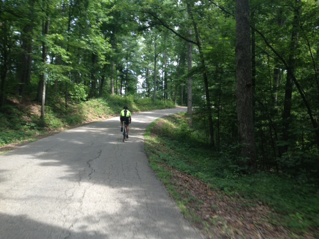 A lot of the ride was secluded and gorgeous. Get it? Red River Gorge was GORGEous.