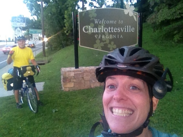 84 miles in of an 85 mile day. We are ALMOST to Sivan's home in Charlottesville. We made it!