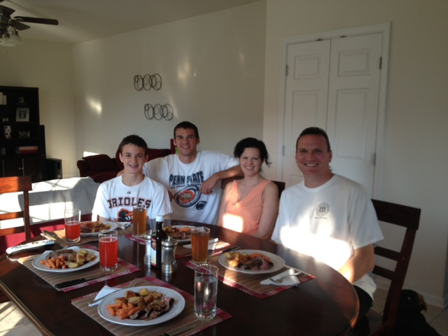 Brian, Amy, Tyler and Jake, hosting me in Manchester MD.