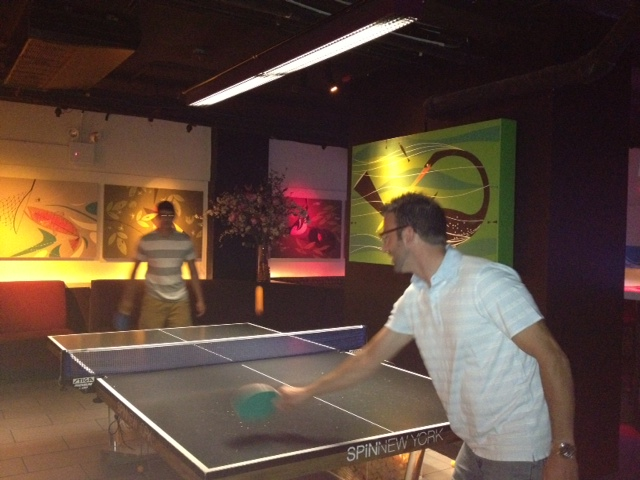 Some ping pong action!