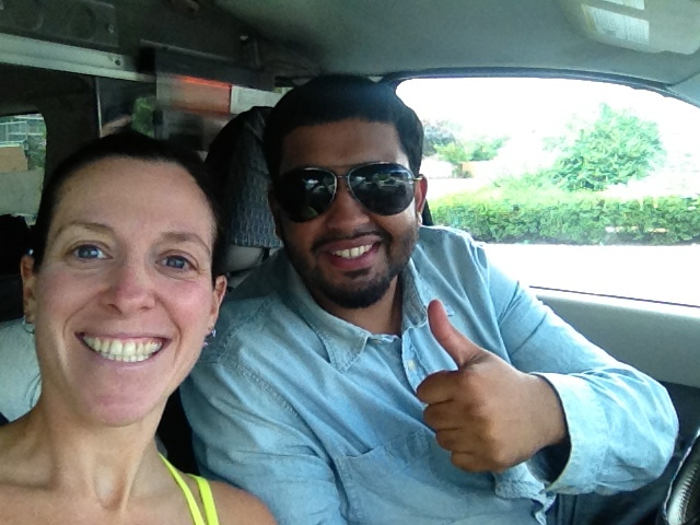 AJ, my cab driver