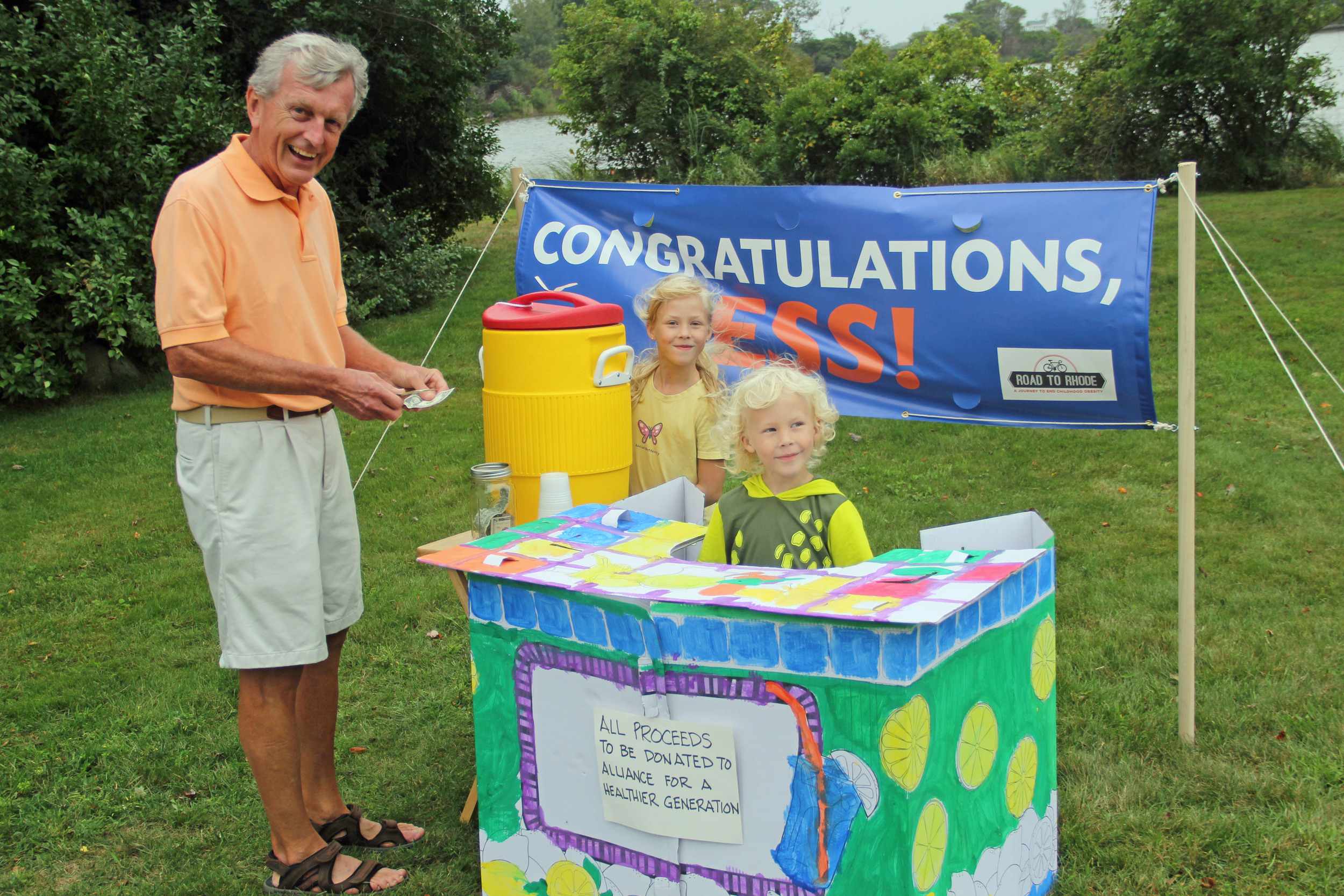 Greg Plunkett purchasing lemonade!