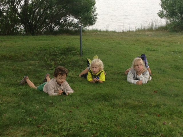 Sam Berte, MacKenzie and Max taking a 'breather' from the incredible successful lemonade stand business.