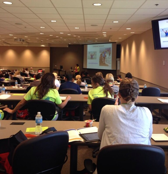Jess Lawrence giving her keynote speech at the Fit 2 Learn Summit June 12, 2014