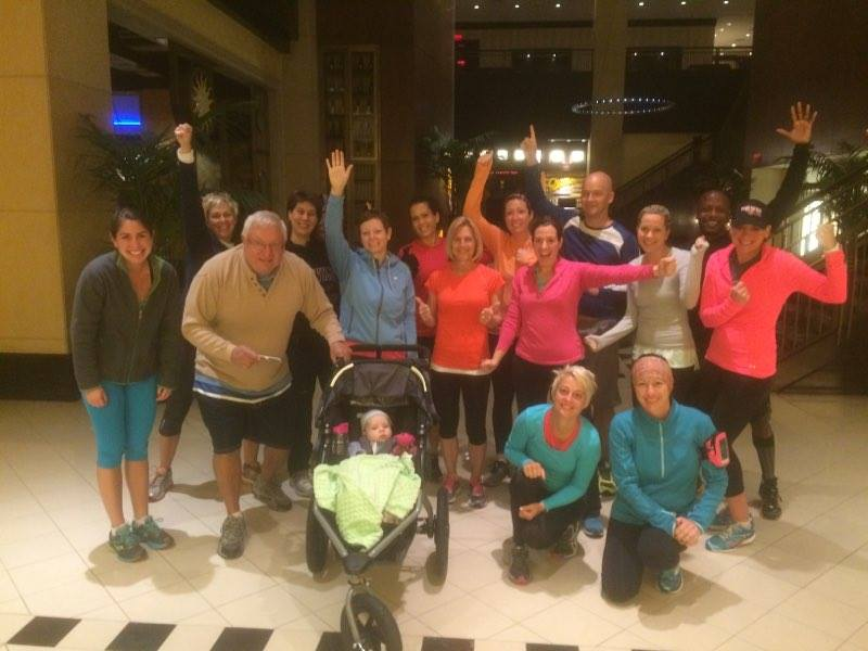 Look at this motivated group at 6am!