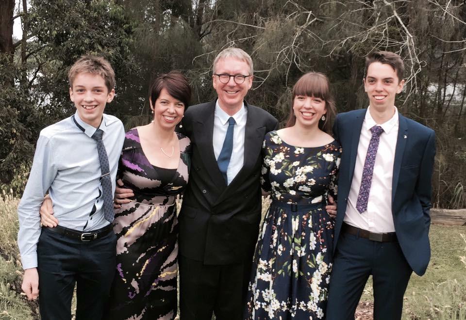 Sam (Yr7), Amelia,  David , Anna (Year13), Josh (Year11)