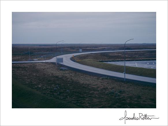 The Keflavik airport road.