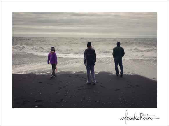 The beach at Vik, Iceland