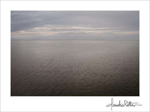 Great Salt Lake rain, Antelope Island State Park