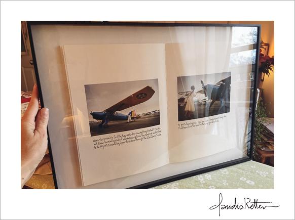 Finished framed signature