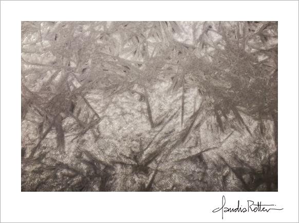 Ice patterns, frozen rive