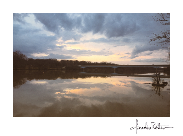 Griggs Reservoir at sunset