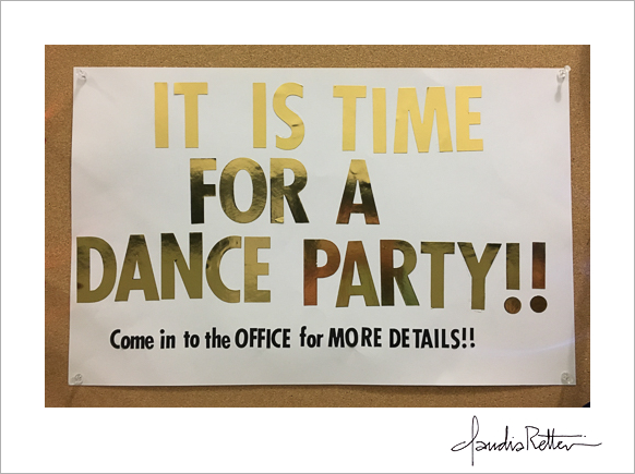 Dance party sign