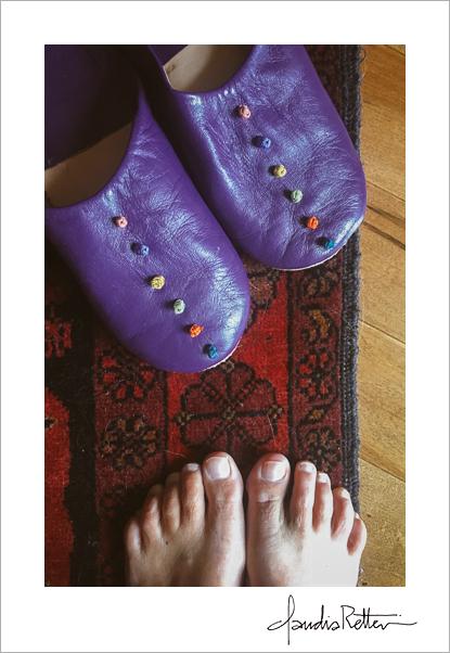 Purple Moroccan slippers