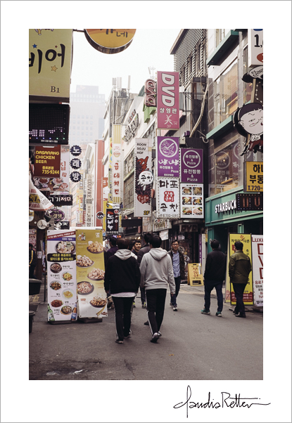 Seoul market street