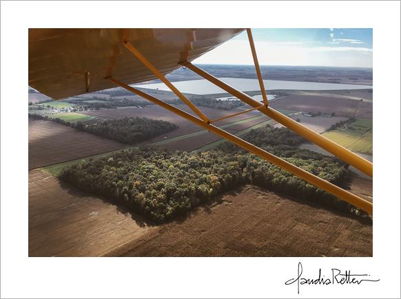 Flying over Packer Field