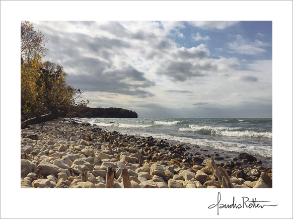 Rocky shore, North Bass Island, Lake Erie