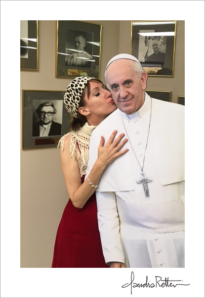 The Pope gets a kiss