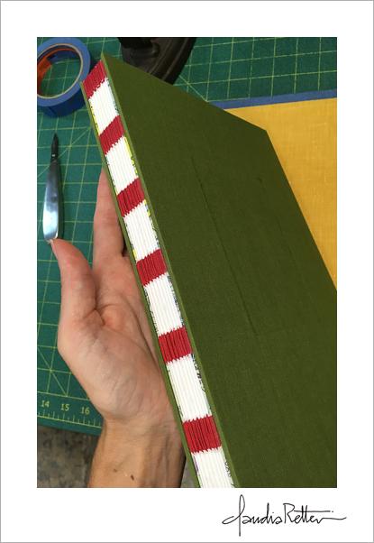 Exposed tape binding