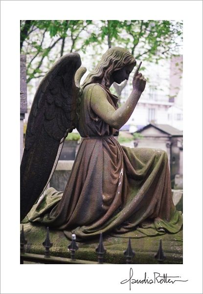 Angel in the Montmartre Cemetery