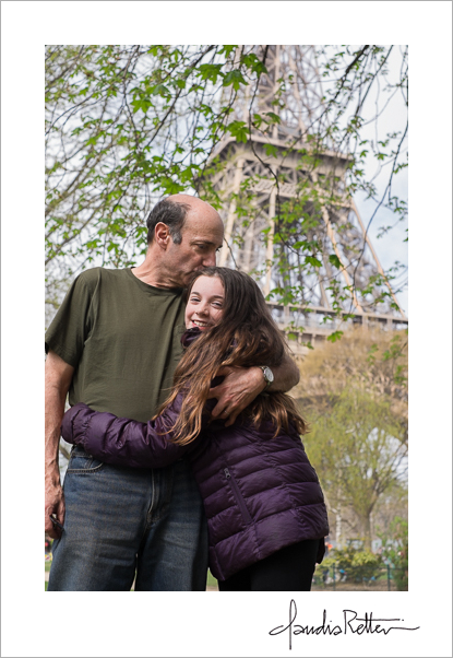 Katherine and John, the Eiffel Tower