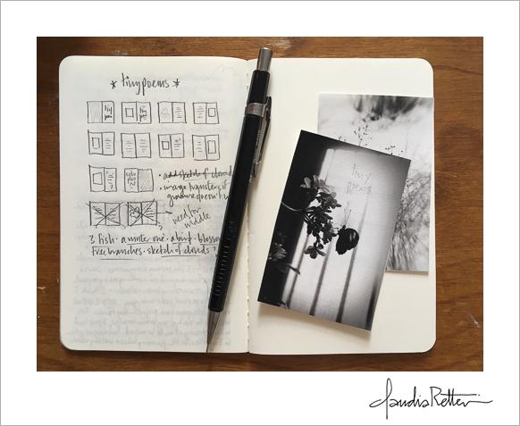 My layout idea for  Tiny Poems