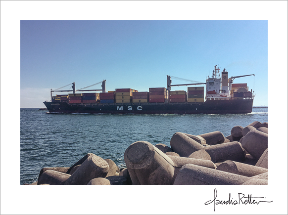Freighter on the Adriatic Sea