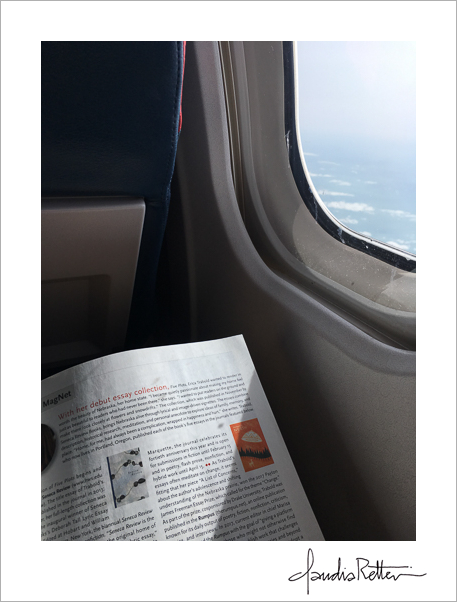 Airplane window reading