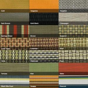Swatches of vinyl fabrics