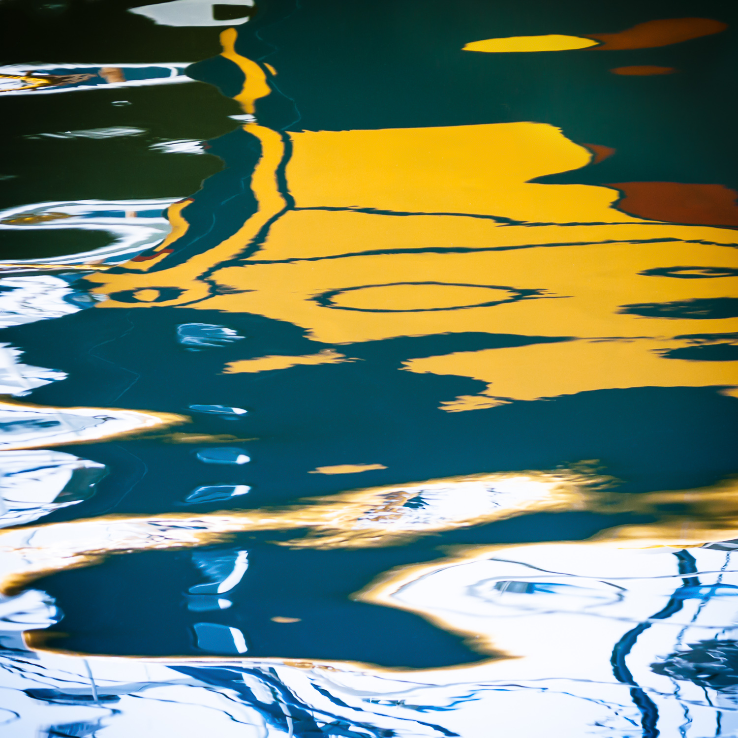 Yellow Reflection Abstract