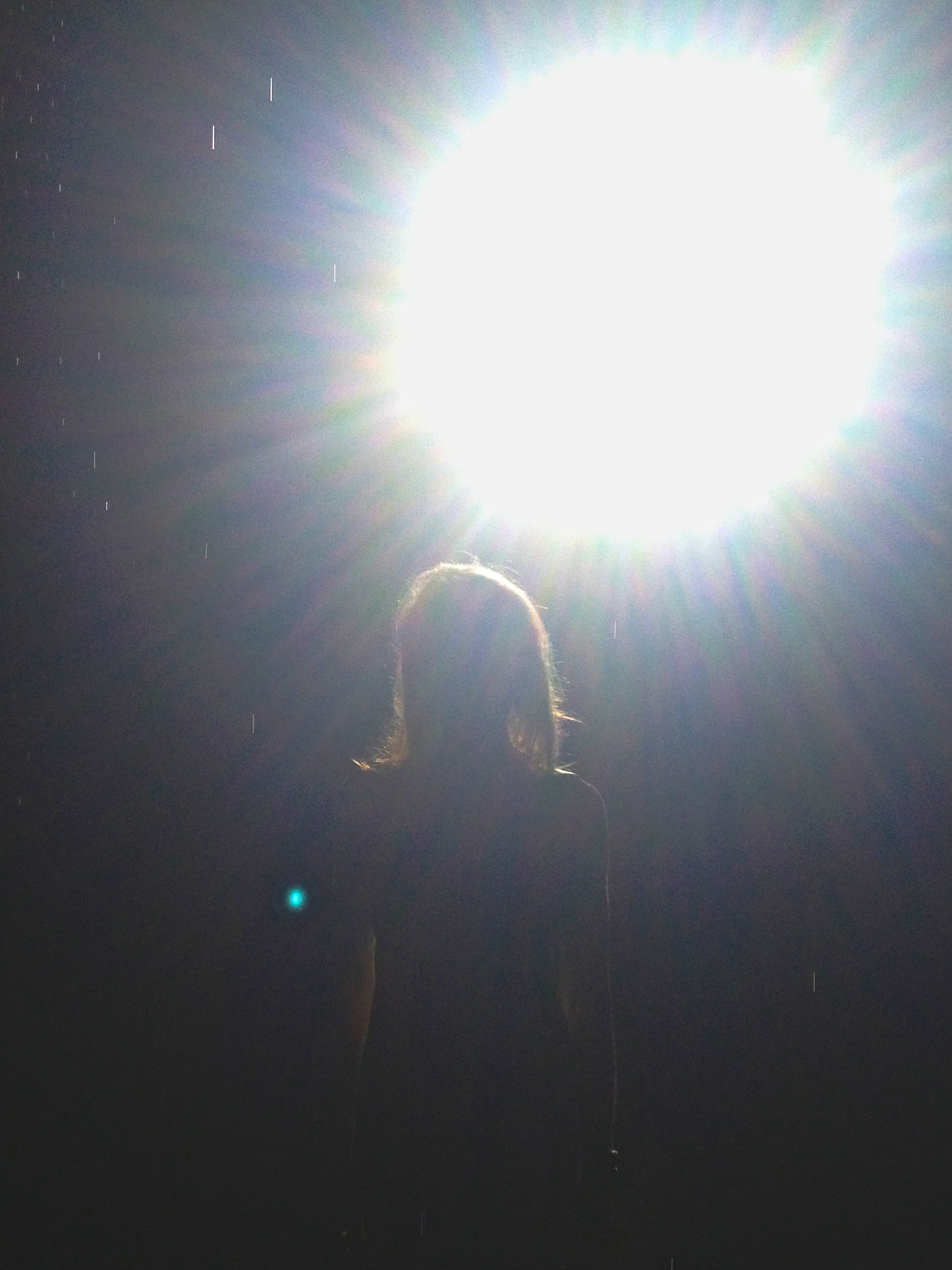 Staring at the bright light in the Rain Room