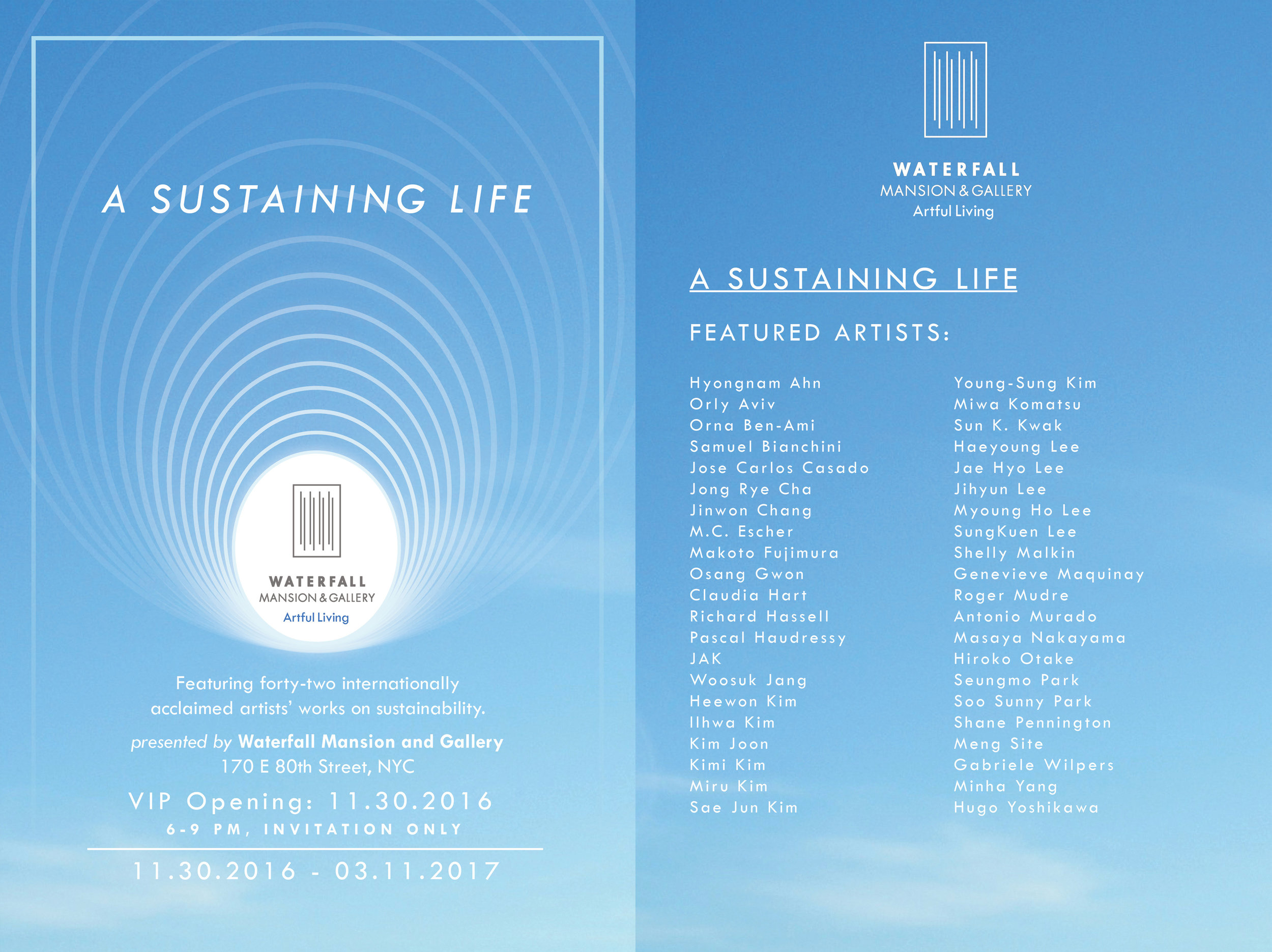 Shelly Malkin participates in A Sustaining Life at Waterfall Mansion and Gallery, November 11, 2016 - March 11, 2017