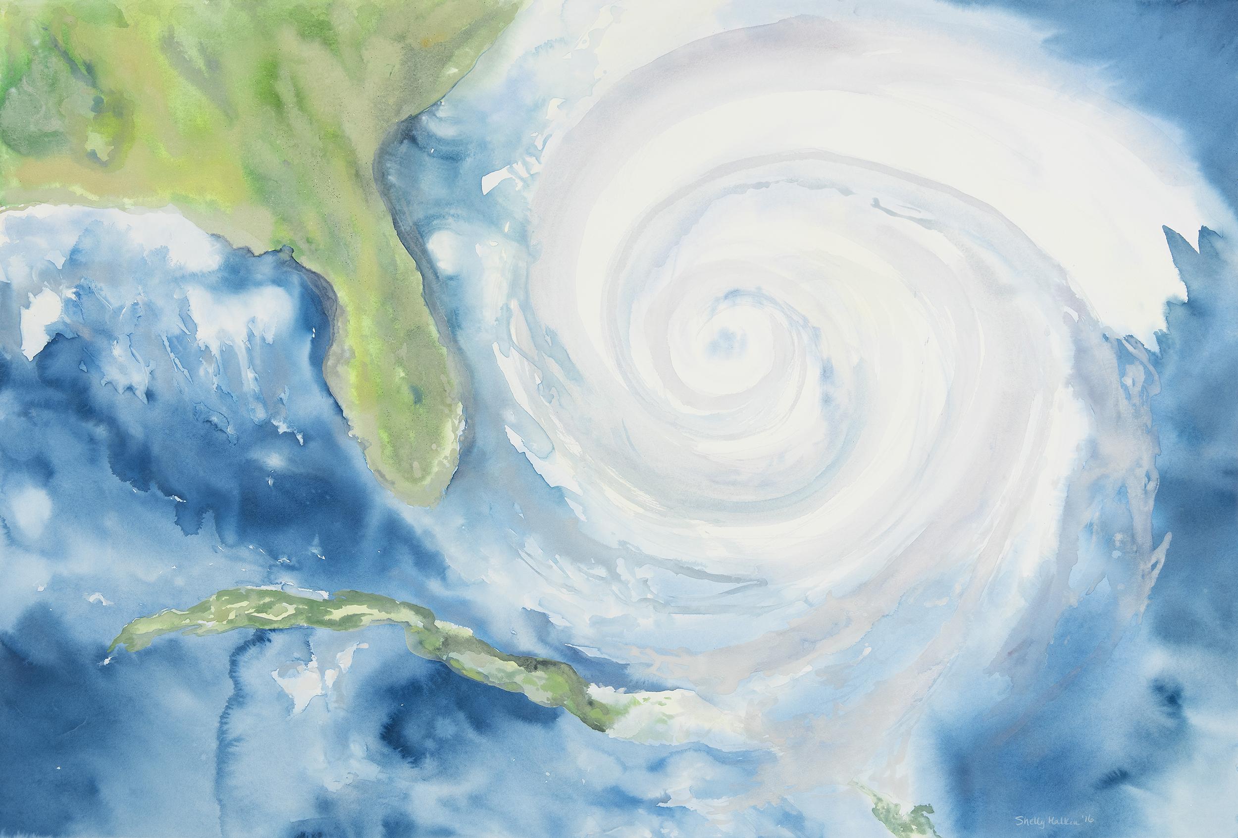 Hurricane Approaching the Coast