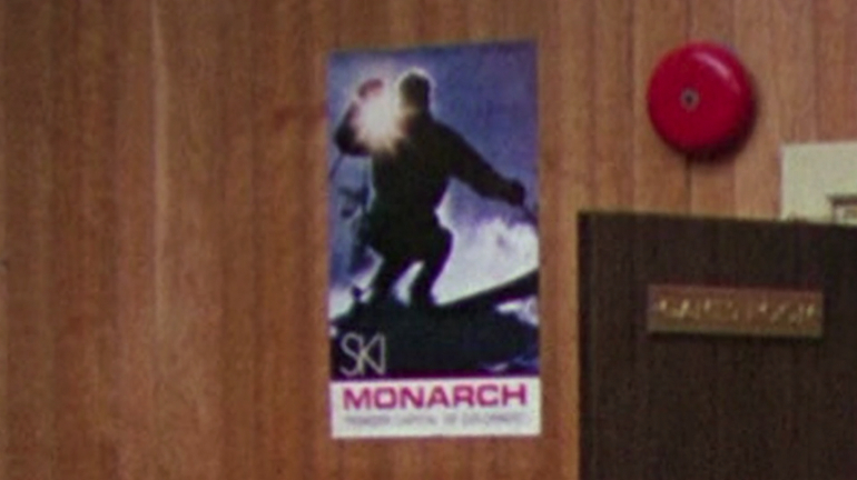 That's not a skier.  That's a minotaur.  Wait, what?